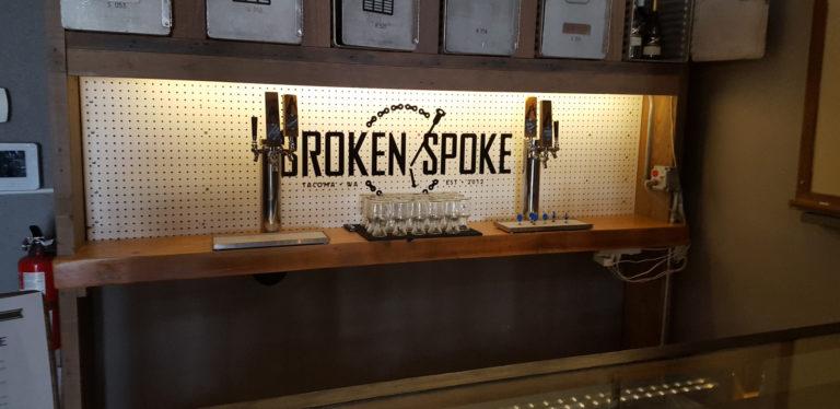 wine on tap system at Broken Spoke restaurant