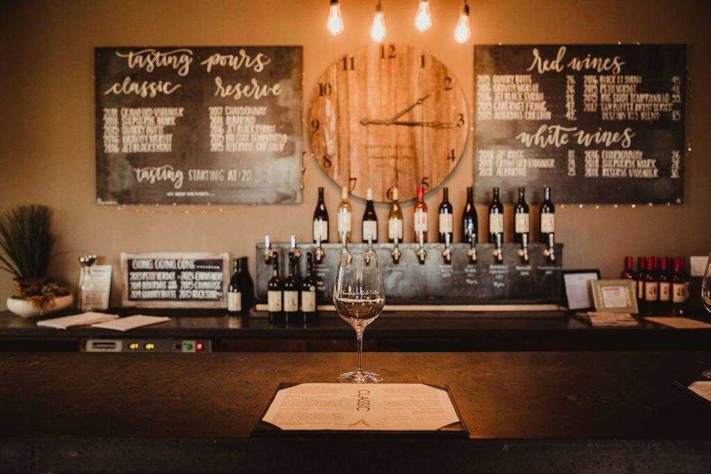inside alexandria nicole cellars destiny ridge tasting room